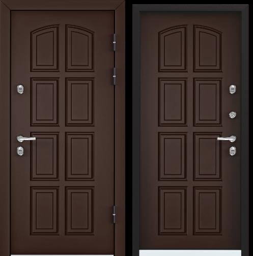 Дверь SNEGIR 60 РР 95 R  прав. 8017 Коричневый,TS-6,Коричневый, TS-6 хром НАКЛ НК2(панель краш МДФ)